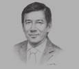 Sketch of Pengiran Zain, Chief Executive, Authority for Info-communications Technology Industry (AITI)