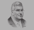 Sketch of Dermot Mannion, Former Deputy Chairman, Royal Brunei Airlines (RB)