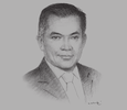 Sketch of Dato Ali Apong, Minister of Primary Resources and Tourism