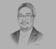 Sketch of Shazali Sulaiman, Partner, KPMG Brunei Darussalam; and Chairman, Brunei Darussalam International Chambers of Commerce and Industry