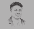 Sketch of Colin Ong, Managing Partner, Dr Colin Ong Legal Services; and President, Arbitration Association Brunei Darussalam (AABD)