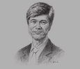 Sketch of Jeffrey Sachs, Director, the Earth Institute at Columbia University