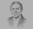 Sketch of Orville London, Chief Secretary, Tobago House of Assembly (THA)