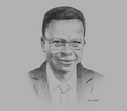Sketch of Andrew Jupiter, Chairman, Petrotrin