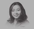 Sketch of Cynthia Reddock-Downes, Acting CEO, Telecommunications Authority of Trinidad and Tobago (TATT)