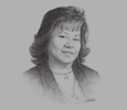 Sketch of Angela Lee Loy, Chairman, Aegis Business Solutions