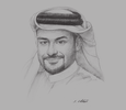 Sketch of Yousuf Mohamed Al Jaida, CEO and Board Member, Qatar Financial Centre Authority