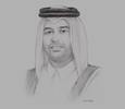 Sketch of Sheikh Ahmed bin Jassim bin Mohamed Al Thani, Minister of Economy and Commerce; and Vice-Chairperson, Qatar Investment Authority