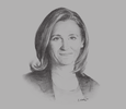 Sketch of Chrystia Freeland, Canadian Minister of International Trade