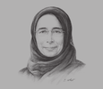 Sketch of  Hanan Mohamed Al Kuwari, Minister of Public Health
