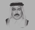 Sketch of Jassim bin Saif Ahmed Al Sulaiti, Minister of Transport and Communications
