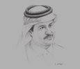 Sketch of Abdul Aziz Mohammed Al Rabban, Chairman, Business Trading Company; Partner, Place Vendôme, Qatar