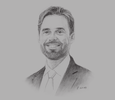 Sketch of James Elwen, Partner and Head of Qatar Office, Pinsent Masons