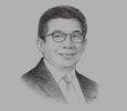 Sketch of Muliaman Hadad, Chairman, Financial Services Authority (OJK)