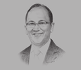 Sketch of Rosan Roeslani, Chairman, Indonesian Chamber of Commerce and Industry (KADIN)