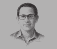 Sketch of Nadiem Makarim, CEO, GO-JEK