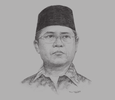Sketch of Rudiantara, Minister of Communication and IT