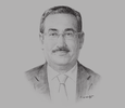 Sketch of Dr Qais Saleh Al Duwairi, Director-General, Dasman Diabetes Institute (DDI)
