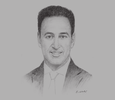 Sketch of  Alex Saleh, Partner, Al Tamimi & Co