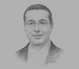 Sketch of Mohammed Boussaid, Minister of Economy and Finance