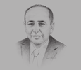 Sketch of Hassan Boubrik, Chairman, Supervisory Authority of Insurance and Social Welfare (ACAPS)