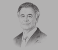Sketch of Philippe Petitcolin, CEO and Director, Safran