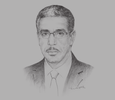 Sketch of Aziz Rabbah, Minister of Equipment, Transport and Logistics