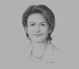 Sketch of Isabelle Kocher, CEO, Engie