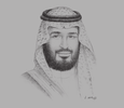 Sketch of  Deputy Crown Prince Mohammed bin Salman bin Abdulaziz Al Saud, Chairman, Council of Economic and Development Affairs