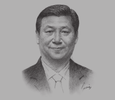 Sketch of Xi Jinping, President, People's Republic of China