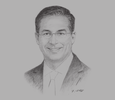 Sketch of Steve Bertamini, CEO, Al Rajhi Bank
