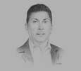 Sketch of Ahmed Farroukh, CEO, Mobily
