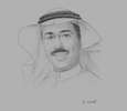 Sketch of Khalid Balkheyour, President and CEO, Arabsat