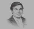 Sketch of Adel Al Toraifi, Minister of Culture and Information