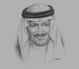 Sketch of Prince Sultan bin Salman bin Abdulaziz Al Saud, Chairman and President, Saudi Commission for Tourism and National Heritage (SCTH)