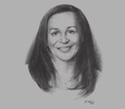 Sketch of Madeleine Berre, Former Minister of SMEs, Handcrafts, Tourism and Services