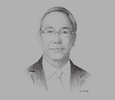 Sketch of Tsuyoshi Kamihira, CEO, Portek Group