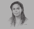 Sketch of Angela Adibet, Head of Legal and Tax Department, Deloitte Gabon