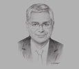 Sketch of Guy Maurice, Senior Vice-President for Africa, Total E&P