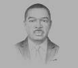 Sketch of Séverin Anguilé, President, Federation of Gabonese Insurance Companies