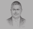 Sketch of Omar Malhas, Minister of Finance