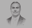 Sketch of Thabet Elwir, Chief of Commission, Jordan Investment Commission (JIC)