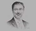 Sketch of Adnan Z Amin, Director-General, International Renewable Energy Agency (IRENA)