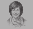 Sketch of Majd Shweikeh, Minister of ICT