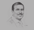 Sketch of Dr Fawzi Al Hammouri, Chairman, Private Hospitals Association (PHA)