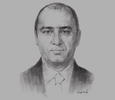 Sketch of Khaled Asfour, Managing Partner, Zu'bi Advocates & Legal Consultants