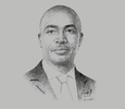 Sketch of Nathaniel Otoo, Acting CEO, National Health Insurance Authority (NHIA)