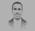 Sketch of Ali Boumediene, CEO, Bomare