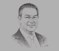Sketch of Mohamed Loukal, Governor, Bank of Algeria (BoA)