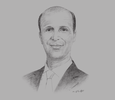 Sketch of Mohammed Khelfaoui, Managing Director, Tell Markets